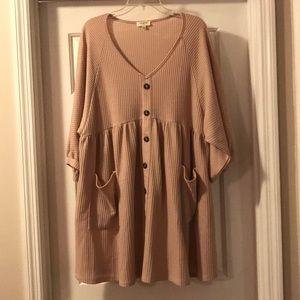 Umgee buttoned babydoll dress